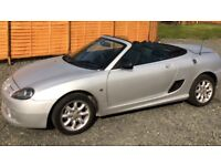 MG convertible silver grey