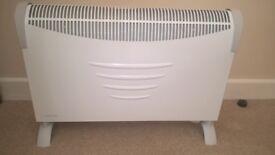 2Kw electric convector heater, white