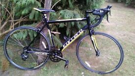 carrera tdf racing bike,21.5 in frame,very little used,superb condition