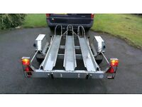 3 Bike motorcycle trailer + Ramp *motocross enduro*