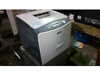 Epson AcuLaser c1100 colour printer, 9 spare ink cartridges