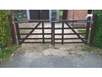 Wooden Driveway Gates And Posts and all fixings