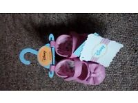 Girls new 3-6 mths disney shoes (lots for sale)
