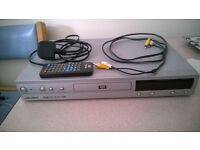 DVD PLAYER + REMOTE FOR SALE