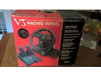 RETRO GAMING V3 RACING WHEEL AND PEDALS by INTERACT