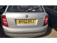 2002 SKODA FABIA SILVERLINE (MANUAL PETROL)