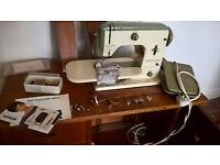 Bernina sewing machine in table