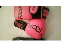 New pink RBK boxing gloves