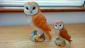 Beswick owl figurines