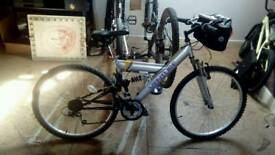 Venture woman's full suspension bike