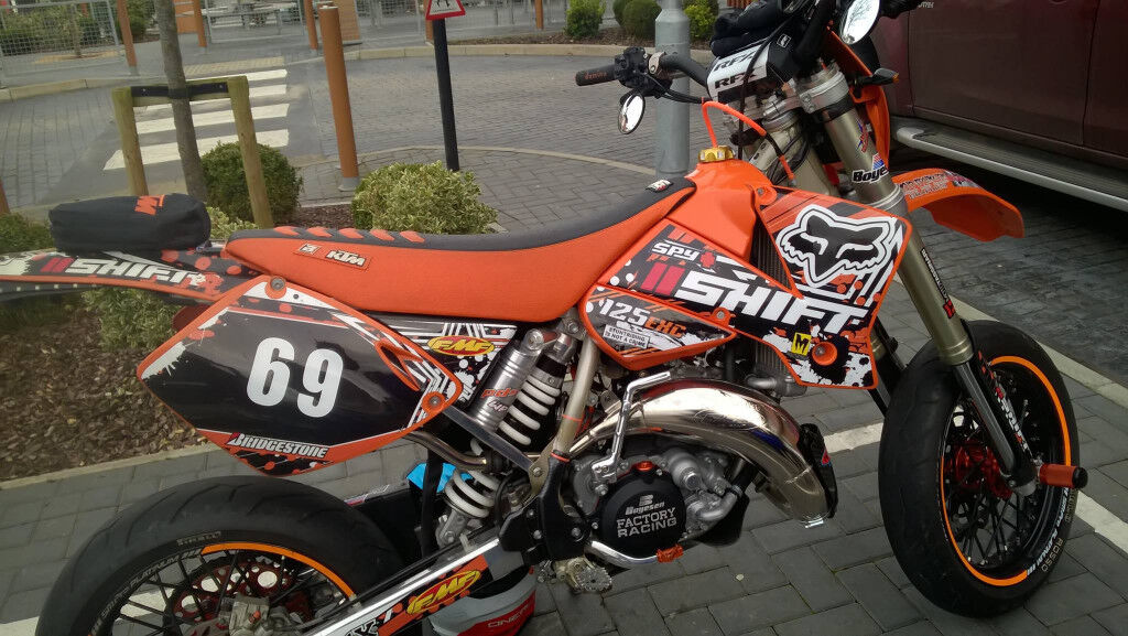 ktm exc supermoto stunt in southampton hampshire gumtree. Black Bedroom Furniture Sets. Home Design Ideas