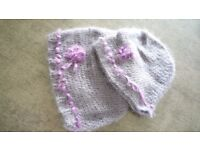 Hand crocheted ladies/girls hats. Set of two.