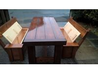 HAND MADE TV UNIT,CHAIRS,DRESSER,DINING/COFFEE TABLES,BEDS,SIDEBOARD,GARDEN&PATIO BENCHES FROM £ 49