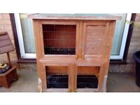 TWO TIER RABBIT/SMALL PET HUTCH