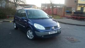 Renault Megane Scenic 53 plate 1.9 petrol MOT till April 16 alloy wheels full V5