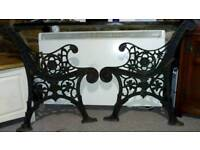 Victorian cast iron bench ends