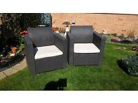 Keter Rattan Garden chairs