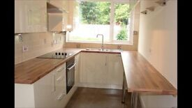 Kitchen cream gloss inc sink and fan