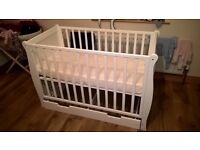 Brand New Cot Bed & Drawer with Mattress 122cm x 62cm