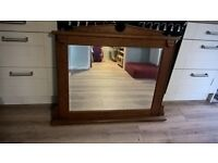 immaculate overmantle mirror