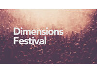 1 x Dimensions Festival Ticket (Pula)