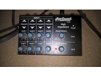 Pro Sound 4 channel high impedance mixer