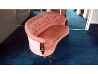 Highly sought after Victorian Ladies Salon Settee - Perfect re upholstery project.