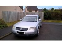 Silver VW Passat 2005 Highline TDI 130. MOT 20 March 2017. Full leather interior.