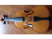 Good Quality Violin - Andreas Zeller - 3/4 size + P&H London Bow