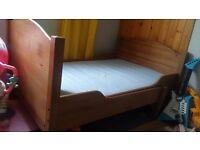 ikea oak childrens bed