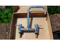 LEVER KITCHEN SINK DECK MIXER TAP, chrome, 2 holes, Brand: BRISTAN, good condition