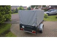 "750kg Galvanised trailer 2008, size 6'10"" x 42"" full canopy, lights V/GC suit camping,mobility quad"