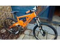 Orange patriot mountain bike