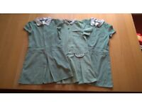 3 x School summer dresses, Green, 7-8y