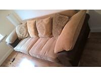 4 seater sofa with an armchair
