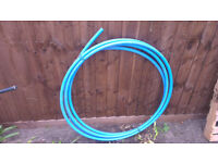 10m of 25mm blue MDPE underground water pipe unused