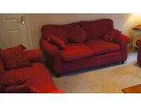 Laura Ashley - Raspberry Southfield Two Seater Sofas