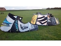 Naish torch kites 11M and 8M Plus bar and Lines