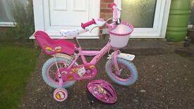 "Childs 12"" Apollo Cupcake bike with helmet"