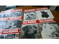 "Vintage ""Tail Wagger"" Dog Magazines 1972 - 1973 & Dogs Monthly Magazine 1983"