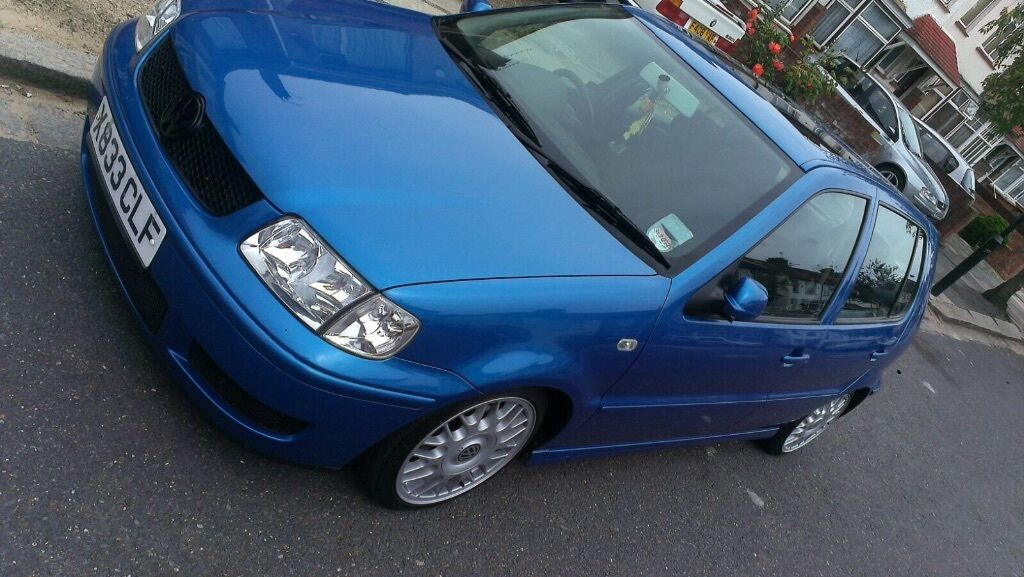 vw polo 1 4 6n2 cheap low mileage 78k dub stance lowered bbs ideal first car cheap mods in. Black Bedroom Furniture Sets. Home Design Ideas