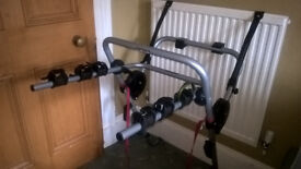 Bike carrier - carry three bikes on rear of car. Used but complete, v. good condition, instructions