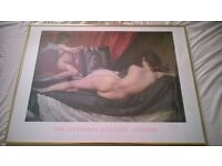 The Rokeby Venus - Diego Vaelazquez 1599-1660 The National Gallery, London - Gold Framed print