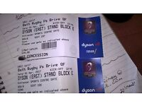 Tickets for Bath Rugby x2 - Saturday the 1st of April