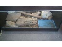4ft Wooden Vivarium for sale, includes all in the picture! Willing to go lower price as needs to go!