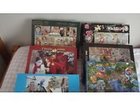 FOR SALE; 10 JIGSAWS ALL COMPLETE