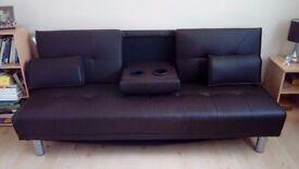 LEATHERETTE SOFA BED