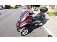 very best low mileage vespa Piaggio mp3 250 scooter trike like fuoco 500 yourban 300 metropolis 400