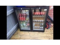 Interlevin double door back bar cooler