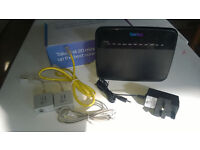 Talk Talk D-Link DSL-3780/TT Broadband Internet Router Boxed with Cables
